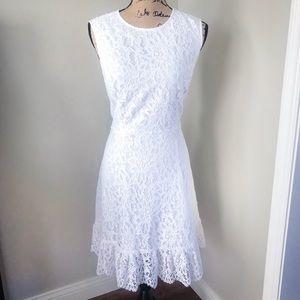 Draper James Lace A-Line Dress White
